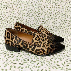 Franco Sarto animal print calf hair loafers